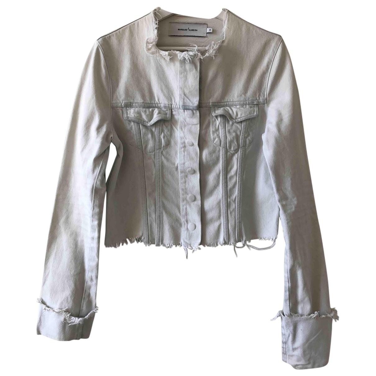 Marques Almeida \N White Denim - Jeans jacket for Women M International