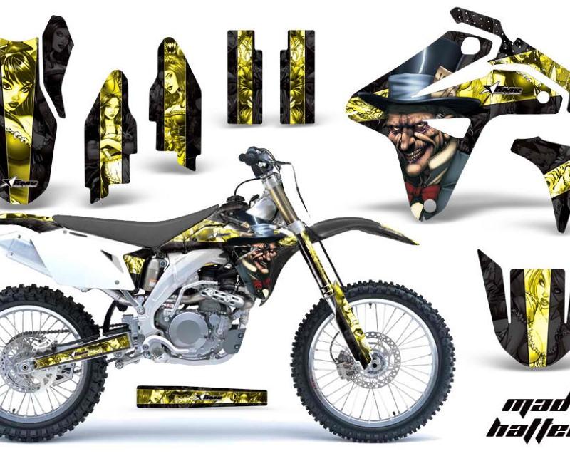 AMR Racing Dirt Bike Graphics Kit MX Decal Sticker Wrap For Suzuki RMZ450 2007áHATTER YELLOW BLACK