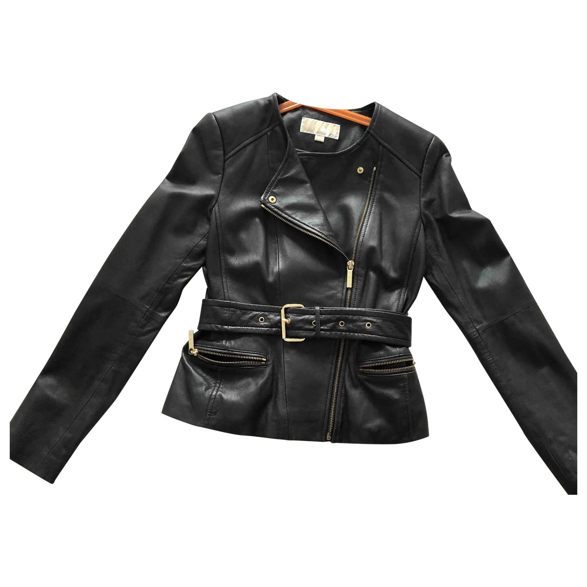 Michael Kors \N Brown Leather Leather jacket for Women 36 FR