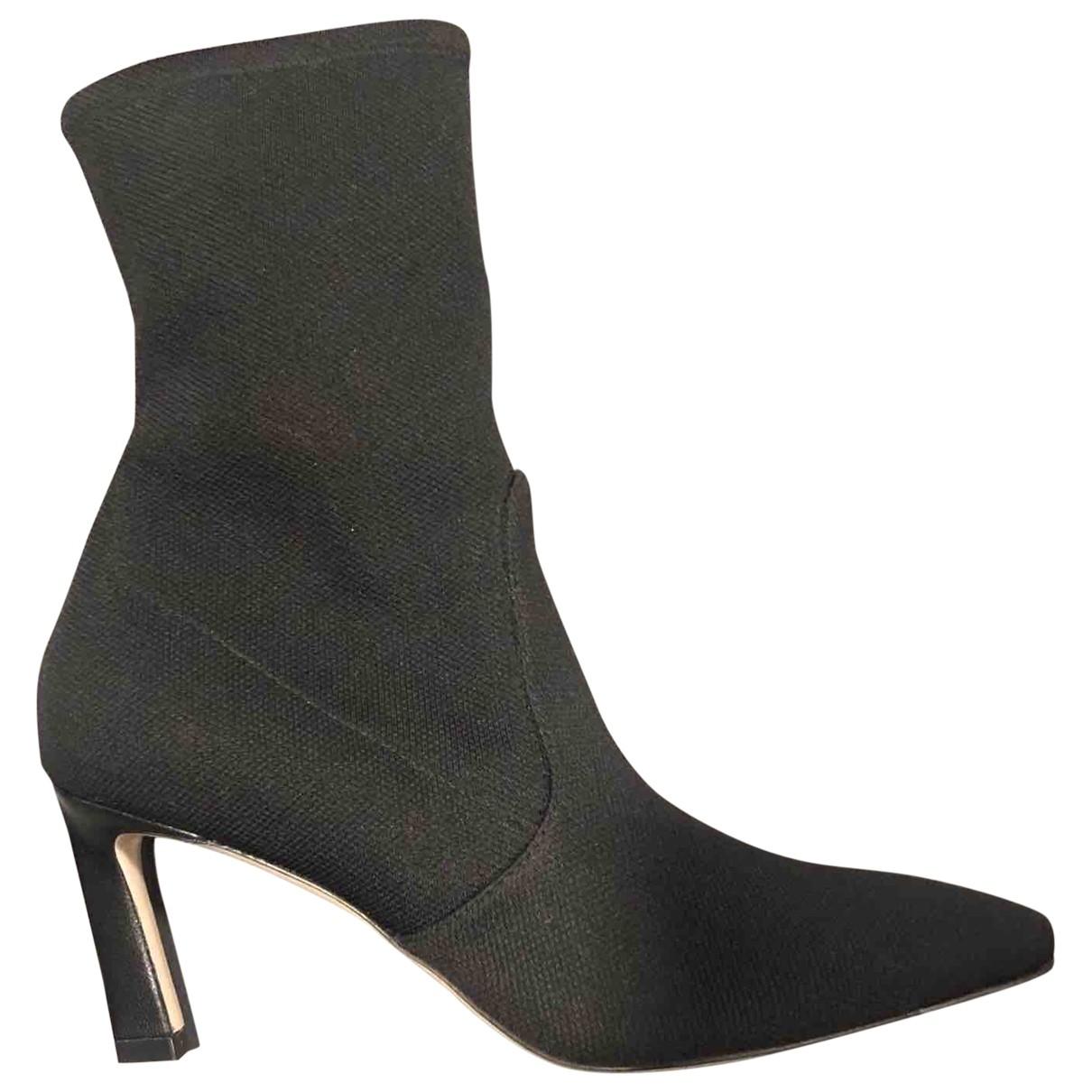 Stuart Weitzman \N Black Cloth Ankle boots for Women 5.5 US
