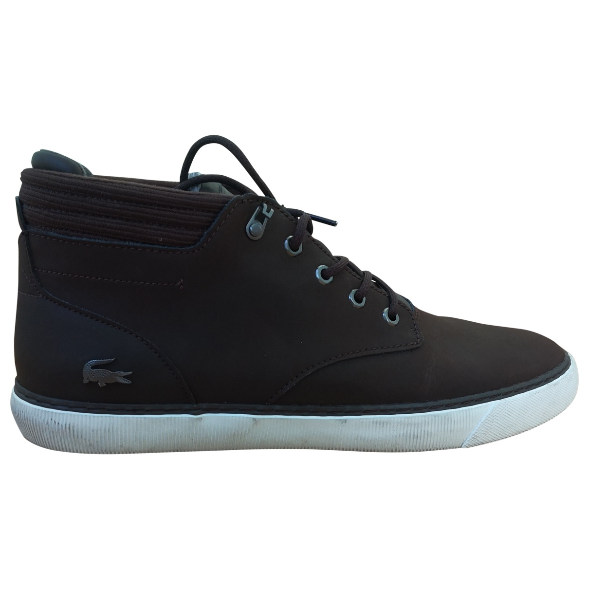 Lacoste \N Brown Leather Trainers for Men 46 EU