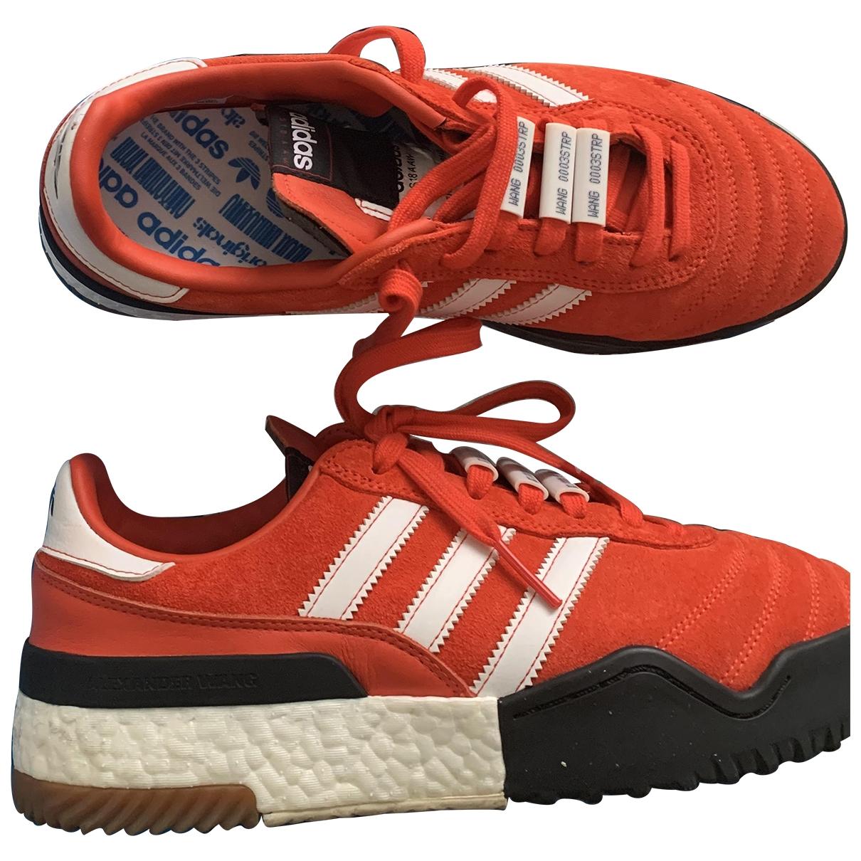 Adidas Originals X Alexander Wang \N Red Suede Trainers for Men 40.5 EU