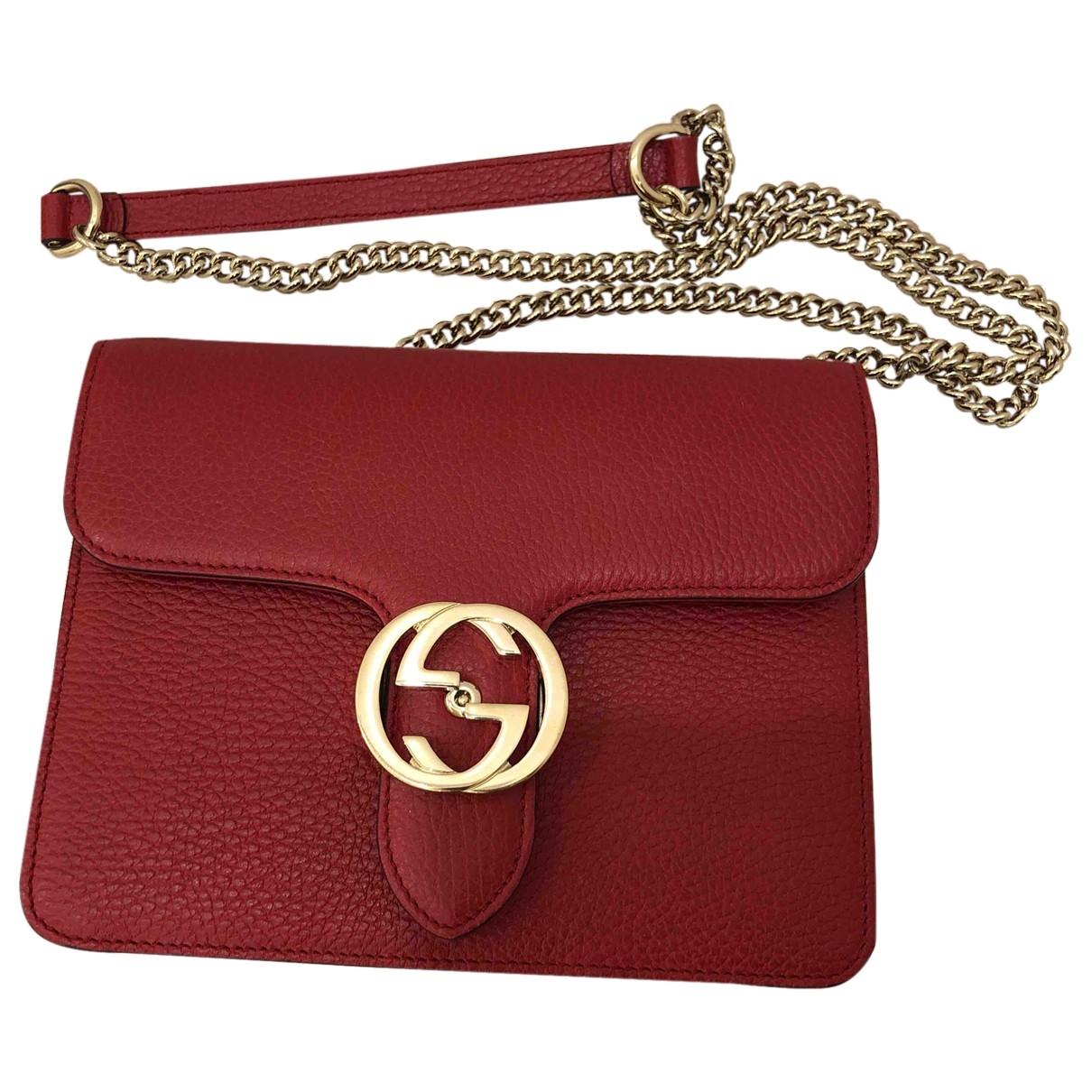 Gucci Interlocking Red Leather handbag for Women \N