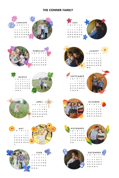 Calendar 24x36 Adhesive Poster, Home Décor -One Wish