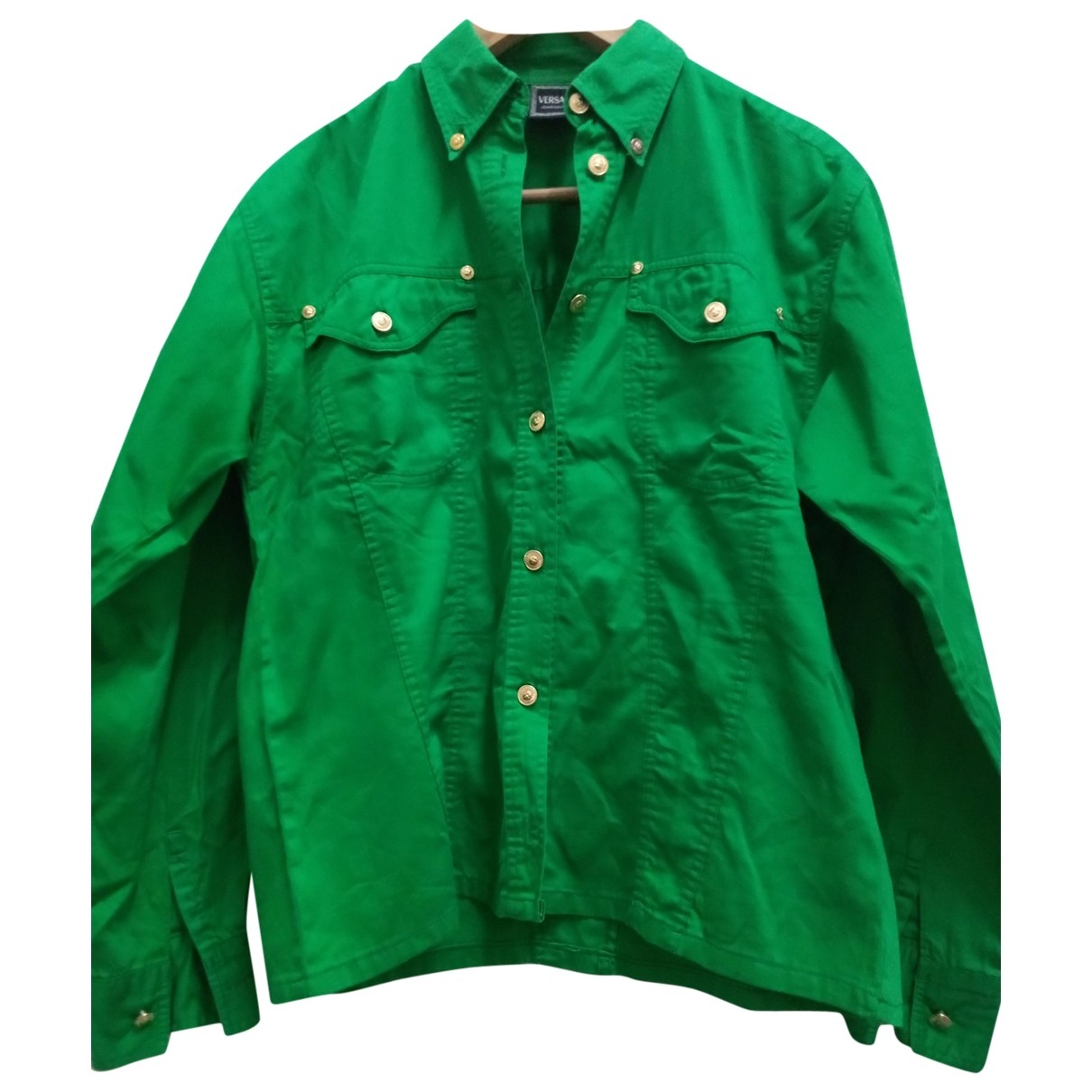Versace Jeans \N Green Cotton  top for Women M International