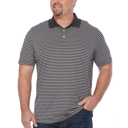 The Foundry Big & Tall Supply Co. Big and Tall Mens Short Sleeve Polo Shirt, 3x-large , Black
