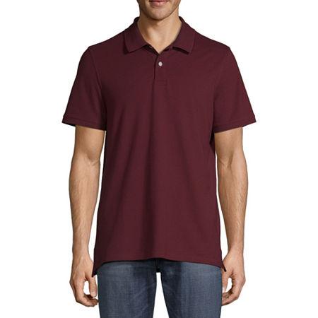 St. John's Bay Premium Stretch Mens Short Sleeve Polo Shirt, X-large , Red