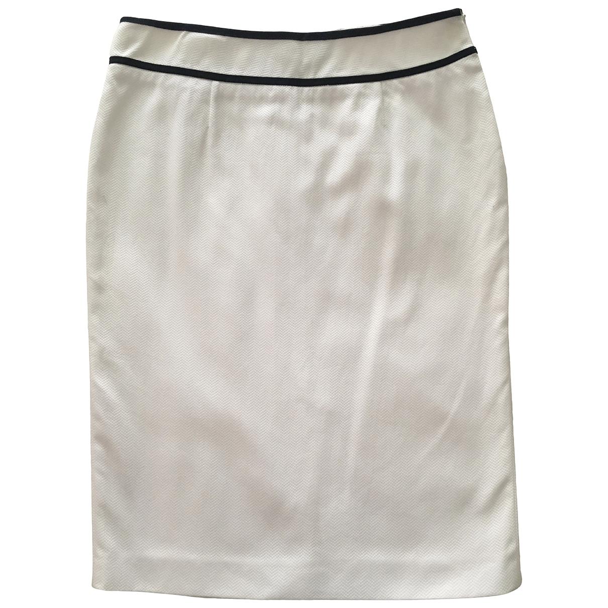 Moschino Love \N White Cotton skirt for Women 42 IT