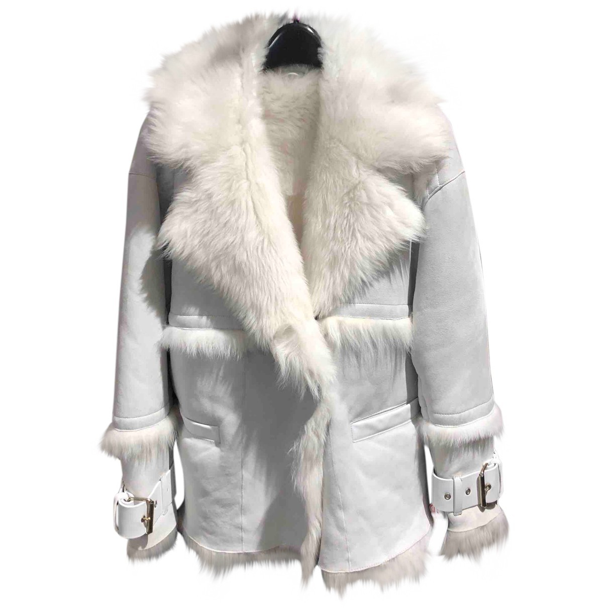 Iro N White Shearling Leather jacket for Women 34 FR