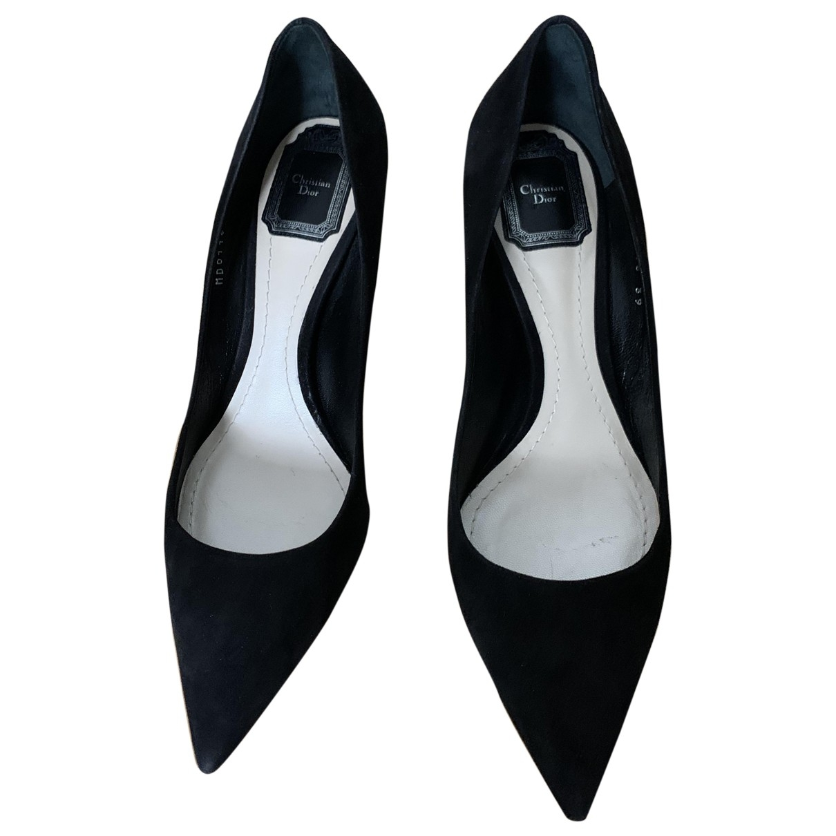 Dior \N Black Suede Heels for Women 39 EU