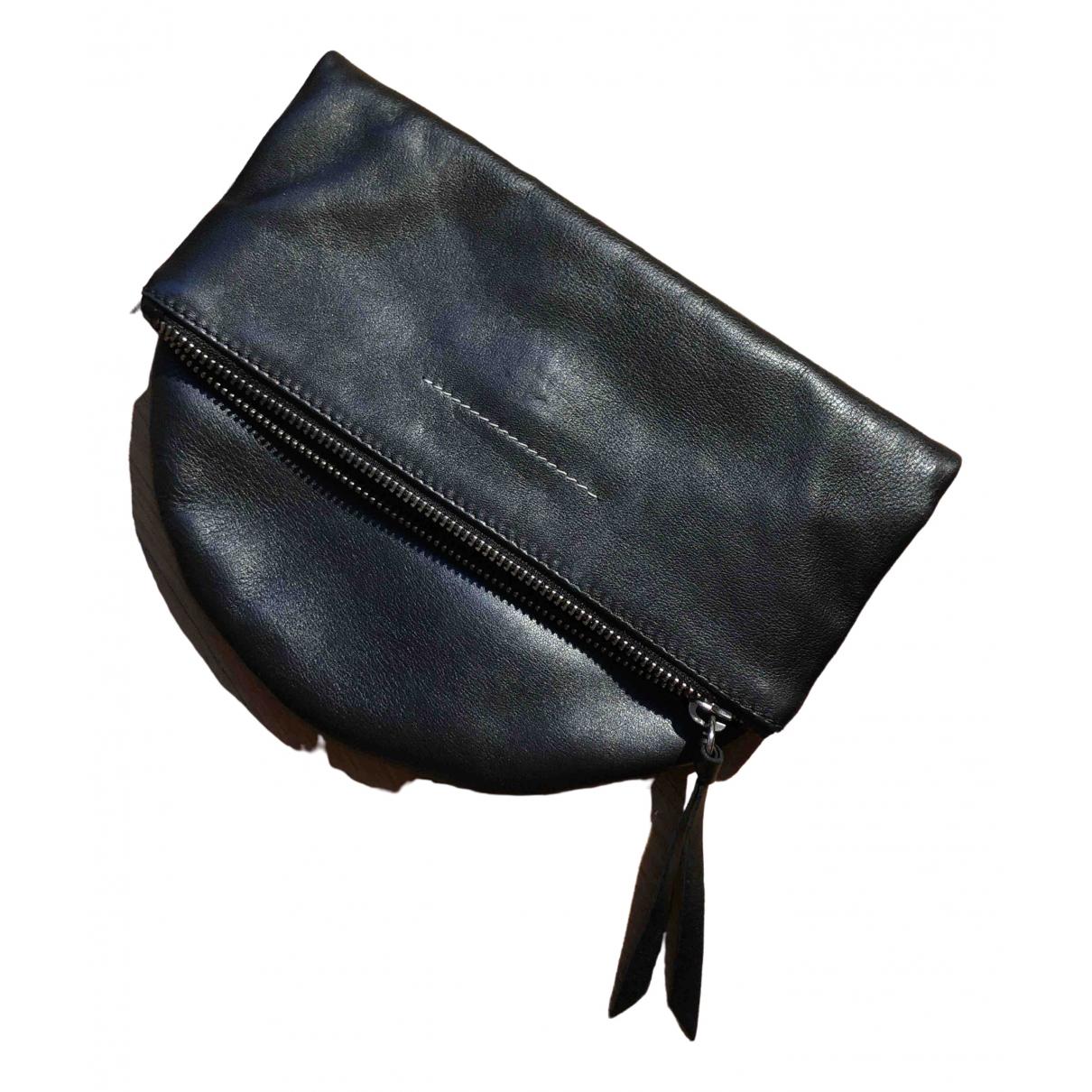 Mm6 \N Clutch in  Schwarz Leder
