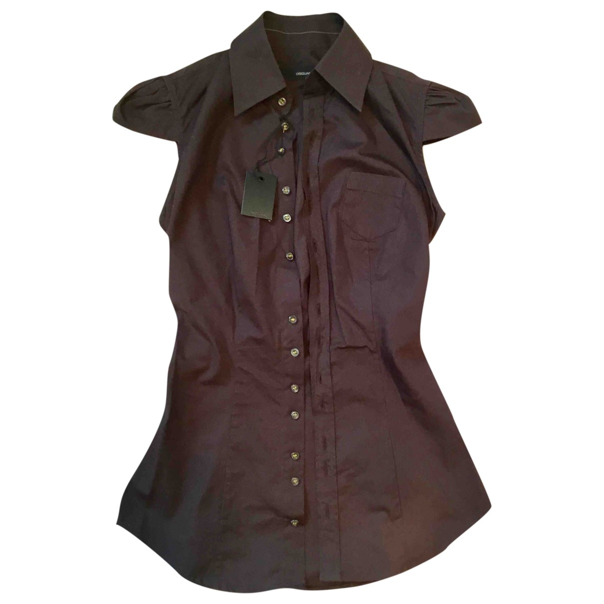 Dsquared2 \N Brown Cotton  top for Women 38 IT