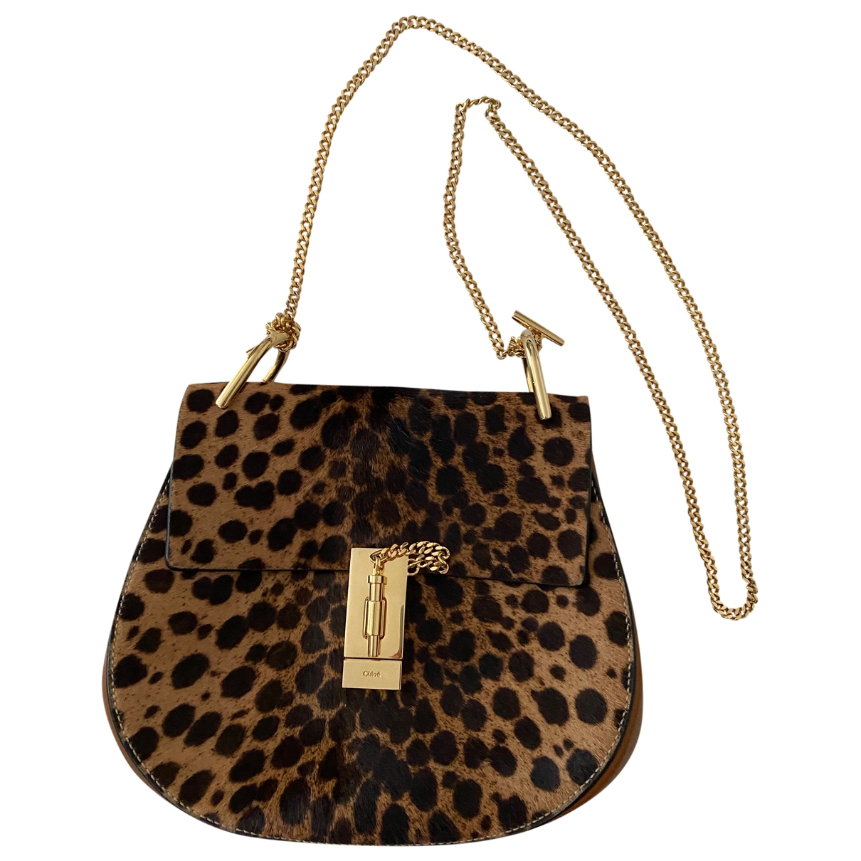 Chloé Drew Brown Pony-style calfskin handbag for Women \N