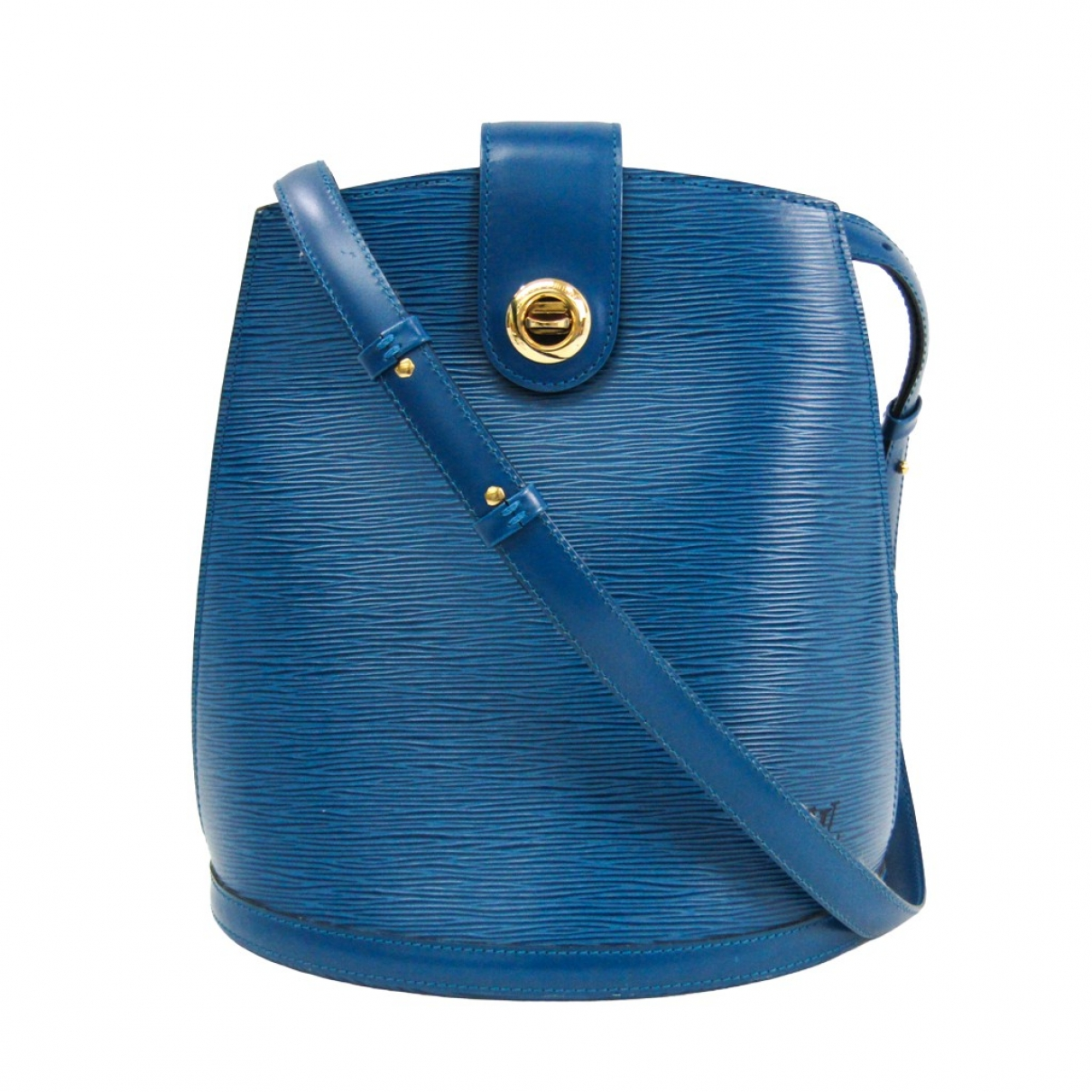 Louis Vuitton Cluny Vintage Blue Leather backpack for Women \N