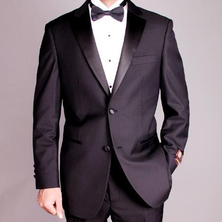 Izod black tuxedoMens 2button Black Tuxedo