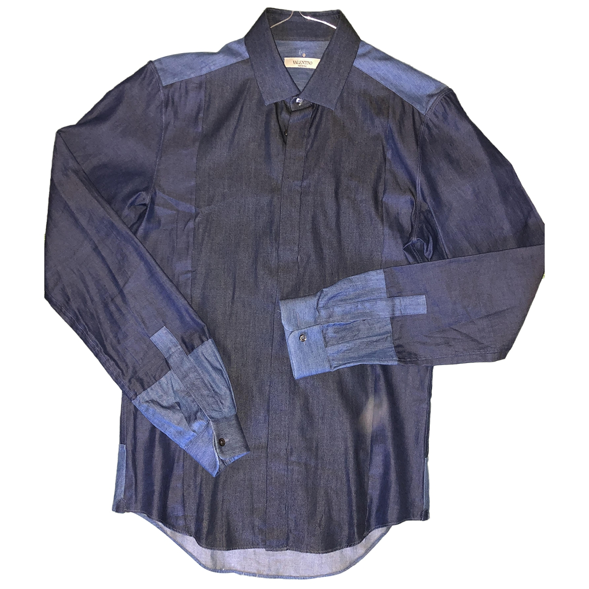 Valentino Garavani \N Navy Denim - Jeans Shirts for Men 37 EU (tour de cou / collar)