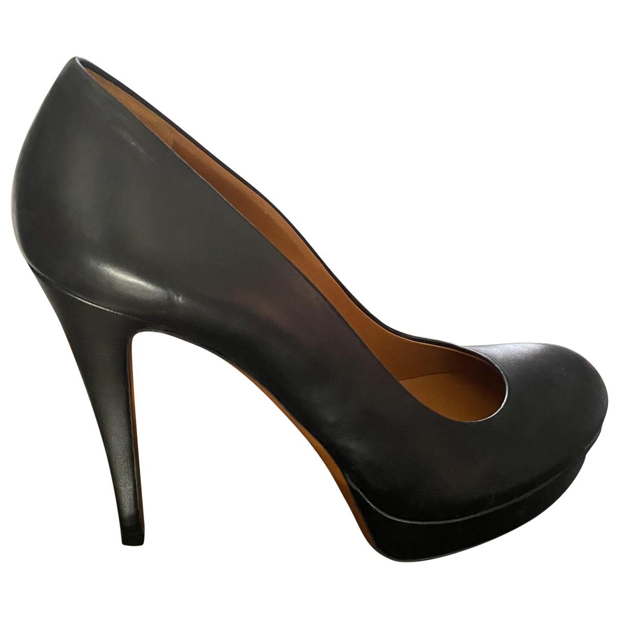 Gucci \N Black Leather Heels for Women 40 IT