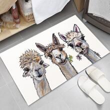 Nonwoven fabric Alpaca Print Floor Mat