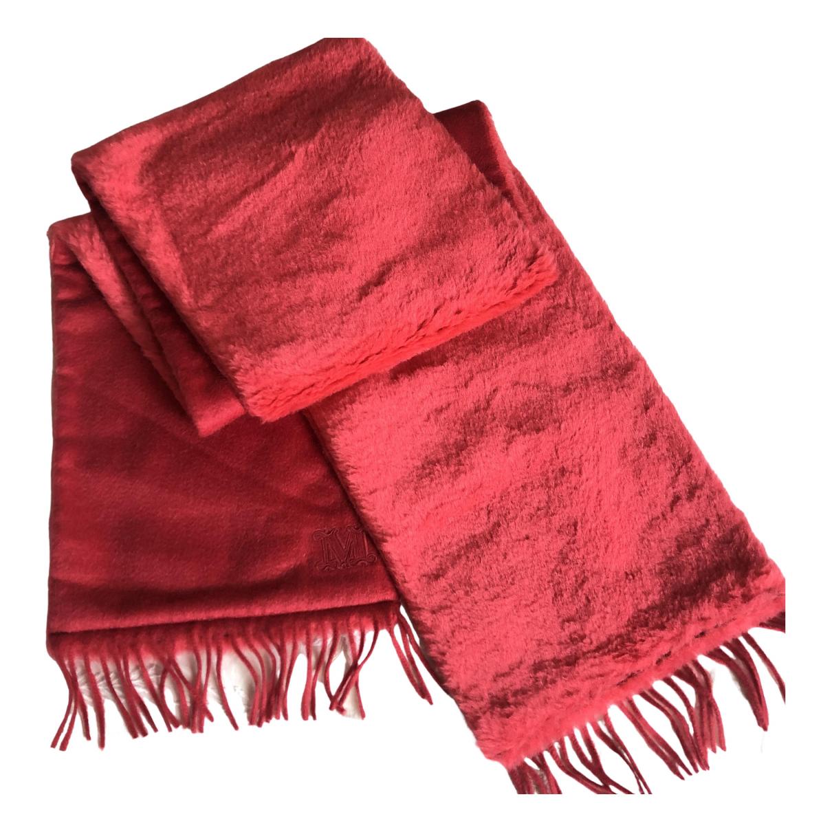 Max Mara - Foulard   pour femme en laine - rouge