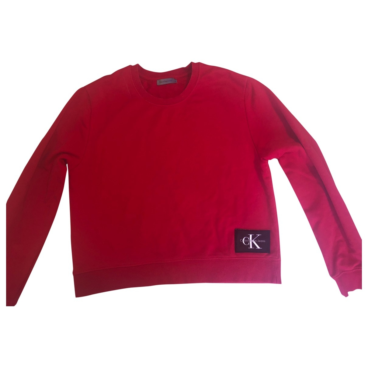 Calvin Klein \N Pullover in  Rot Baumwolle
