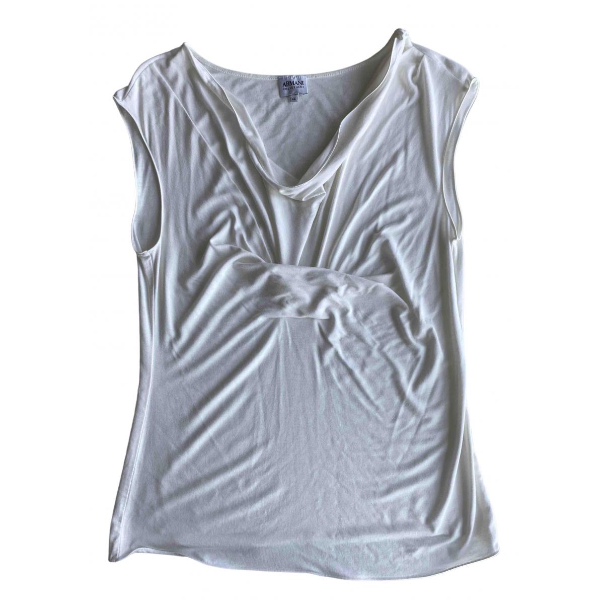 Armani Collezioni - Top   pour femme - blanc