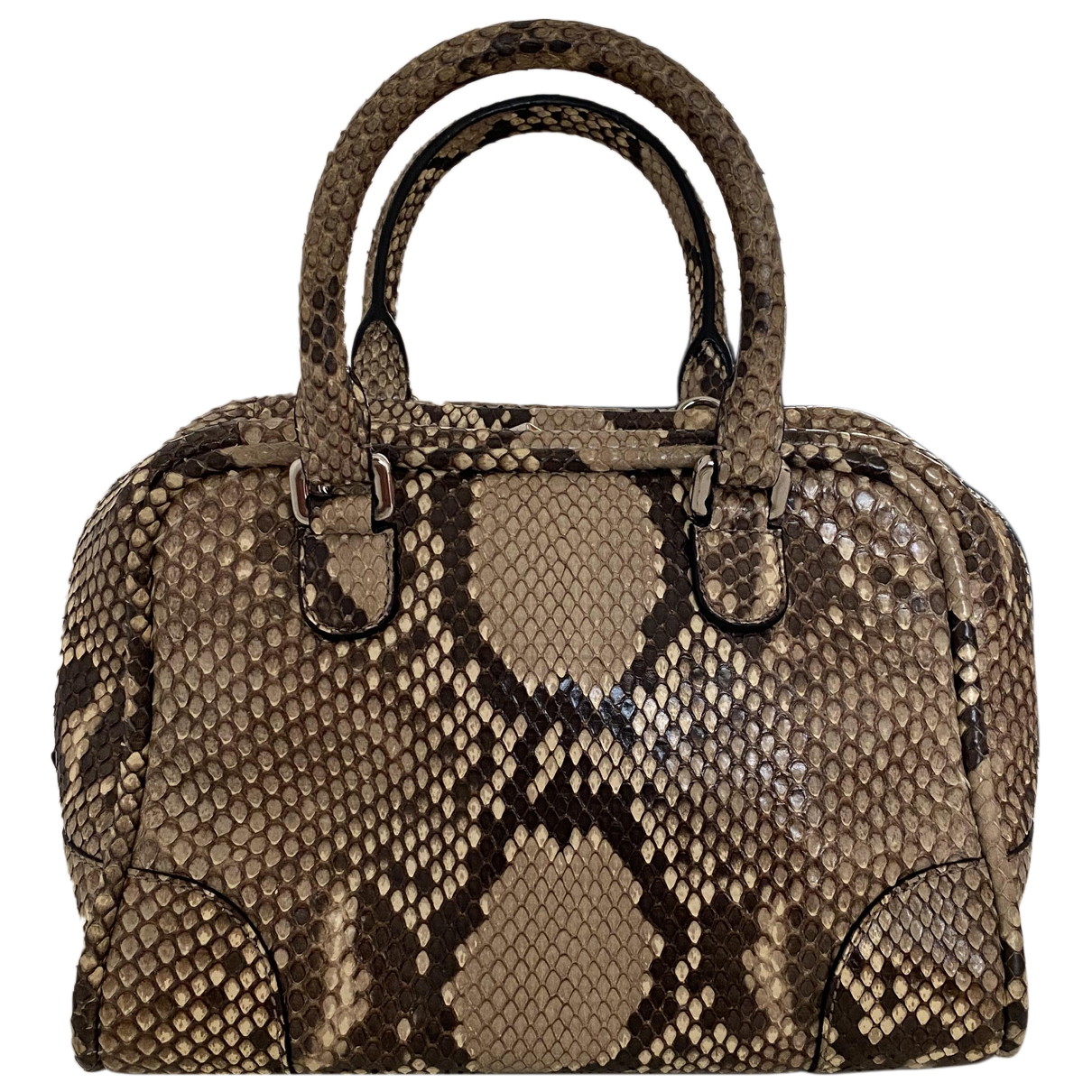 Loewe - Sac a main Amazona 75  pour femme en python - beige