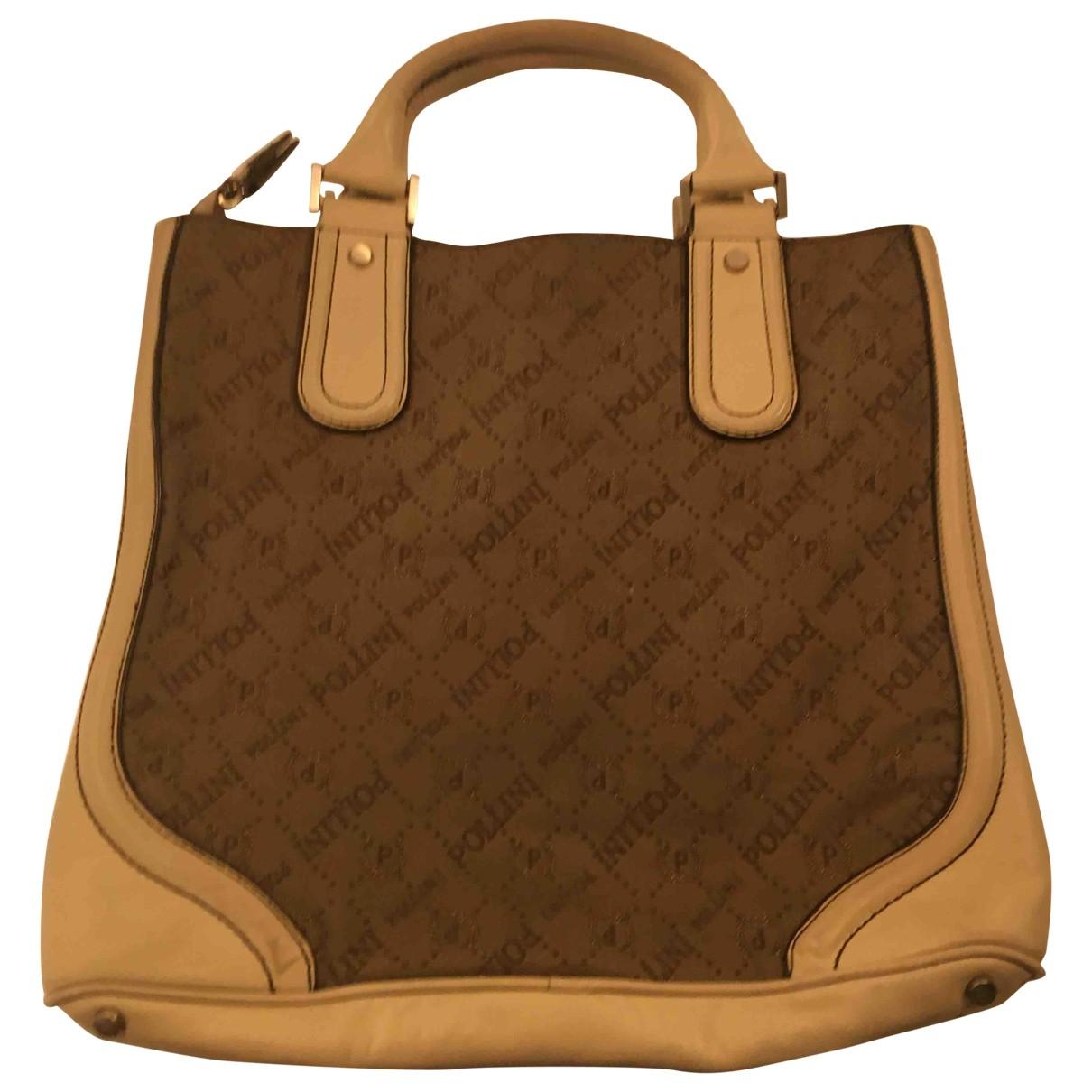 Pollini \N Handtasche in  Beige Denim - Jeans