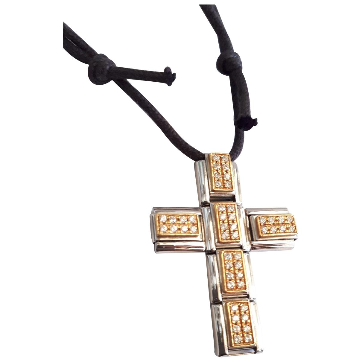 Non Signe / Unsigned Chaines Schmuckstuecke in  Silber Stahl