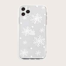 iPhone Schutzhuelle mit Schneeflocke Muster