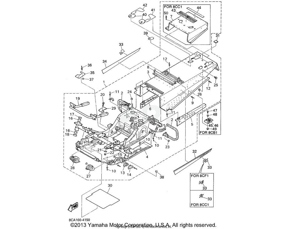 Yamaha OEM 8AB-2198G-00-00 COVER 2