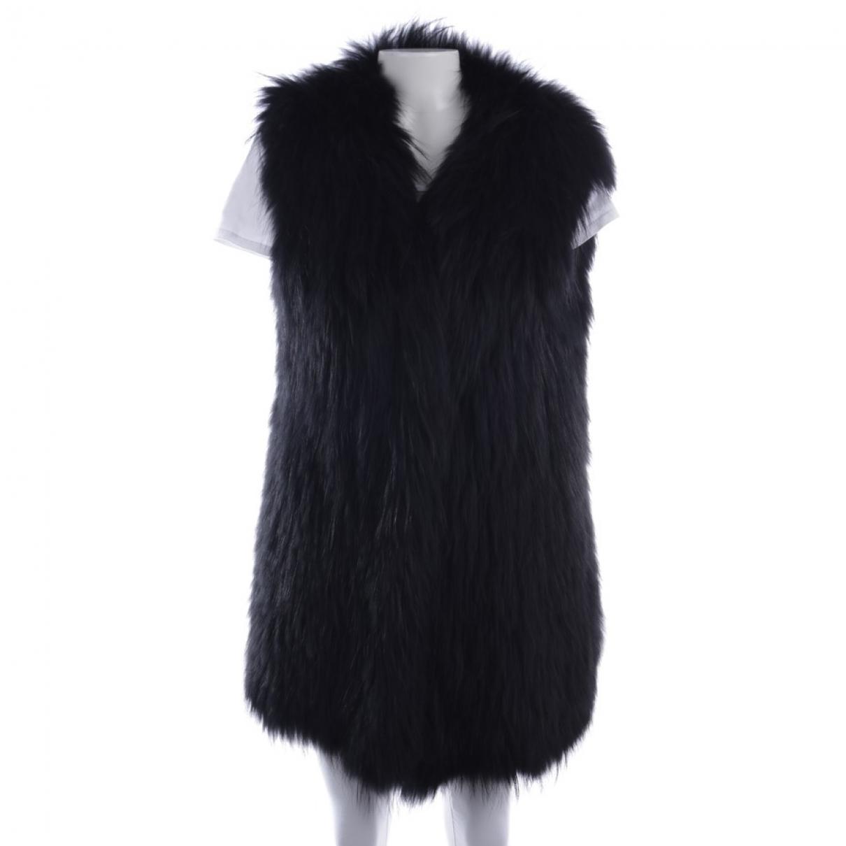 Sly010 - Veste   pour femme en fourrure - noir