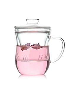Lovely Creative Filterable Transparent Tea Cup