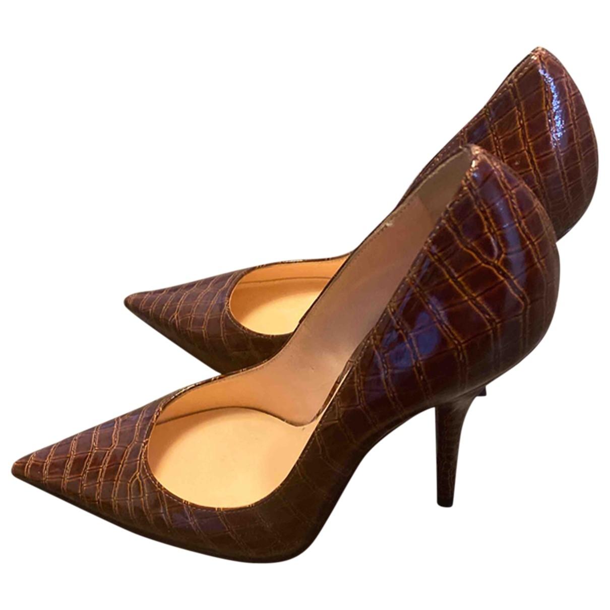 Casadei - Escarpins   pour femme en cuir - marron