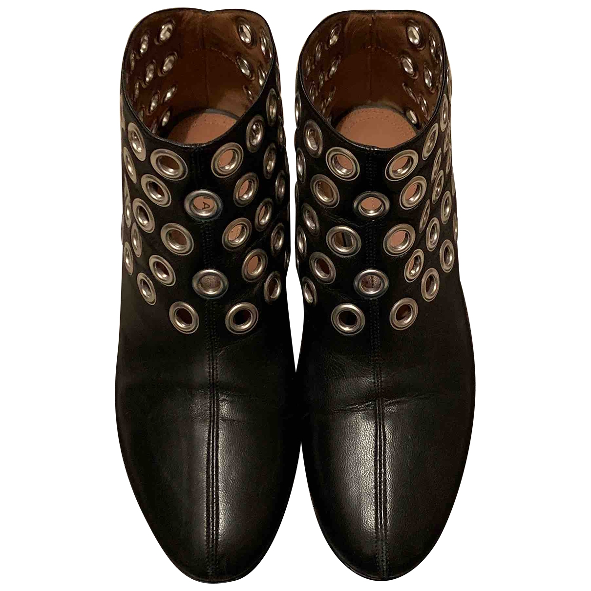 Alaia - Boots   pour femme en cuir - noir