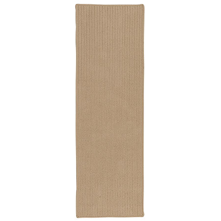Colonial Mills Deck Porch And Patio Braided Rectangular Reversible Runner, One Size , Beige
