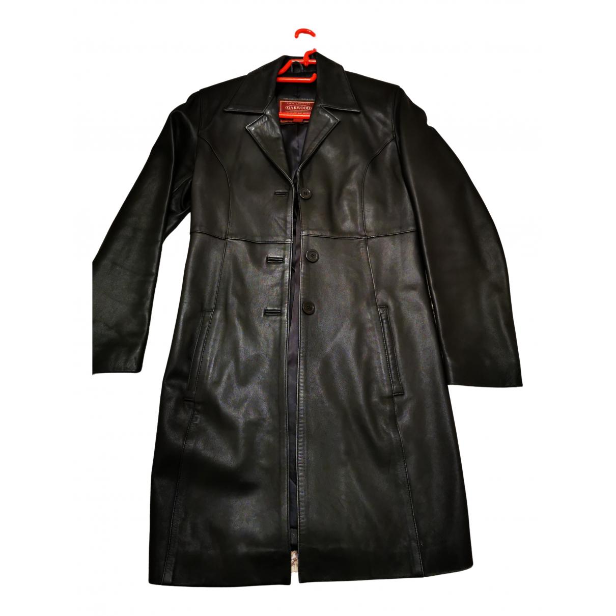 Oakwood - Manteau   pour femme en cuir - noir