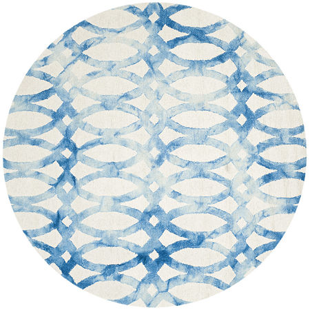 Safavieh Dip Dye Collection Maralyn Geometric Round Area Rug, One Size , Multiple Colors