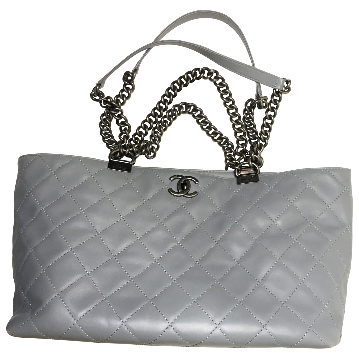 Chanel \N Grey Leather handbag for Women \N