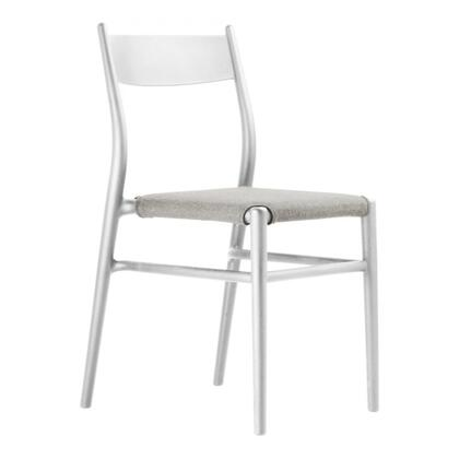 Joi TO-1536W-C Thirtysix Chair White with Coffee Seat
