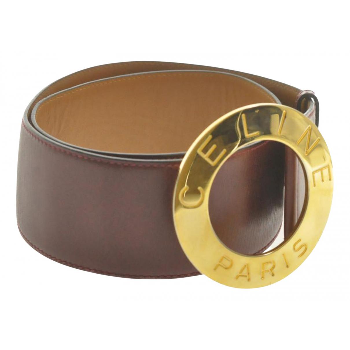 Celine N Brown Leather belt for Women 75 cm