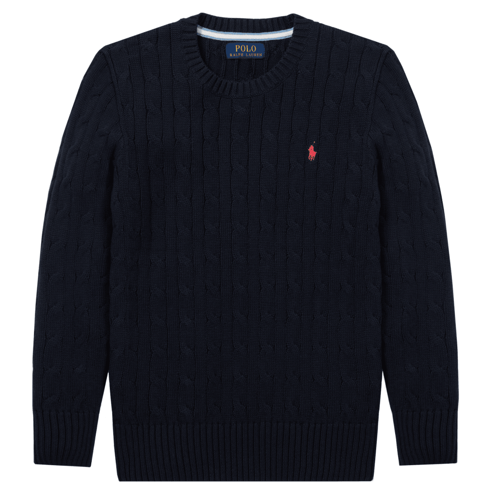 Ralph Lauren Kids Knitted Jumper Size: S (8 YEARS), Colour: NAVY