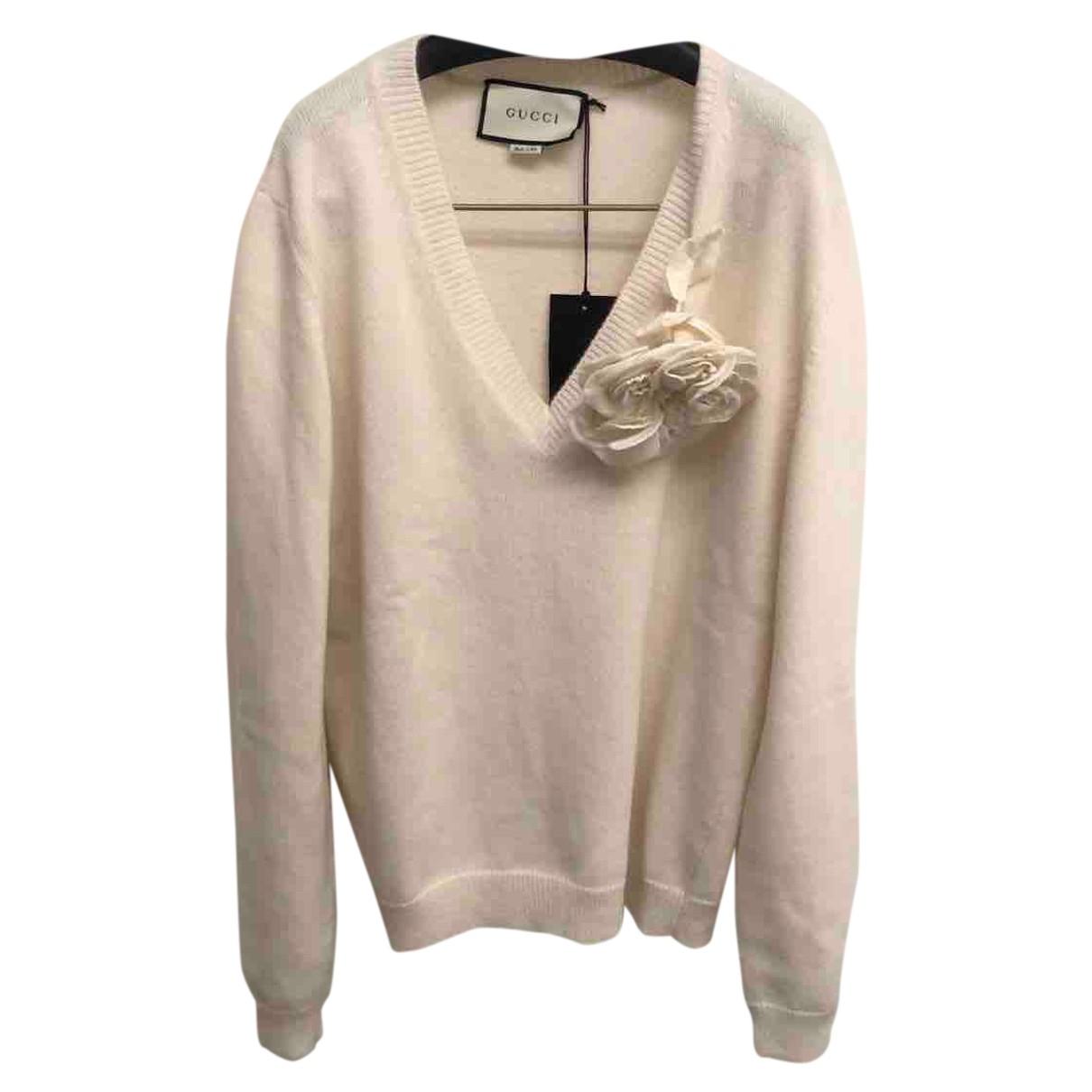 Gucci - Pull   pour femme en laine - blanc