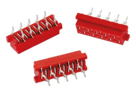 Wurth Elektronik , 6903 1.27 mm, 2.54 mm Pitch 4 Way 2 Row Straight PCB Socket, Through Hole, Solder Termination (5)