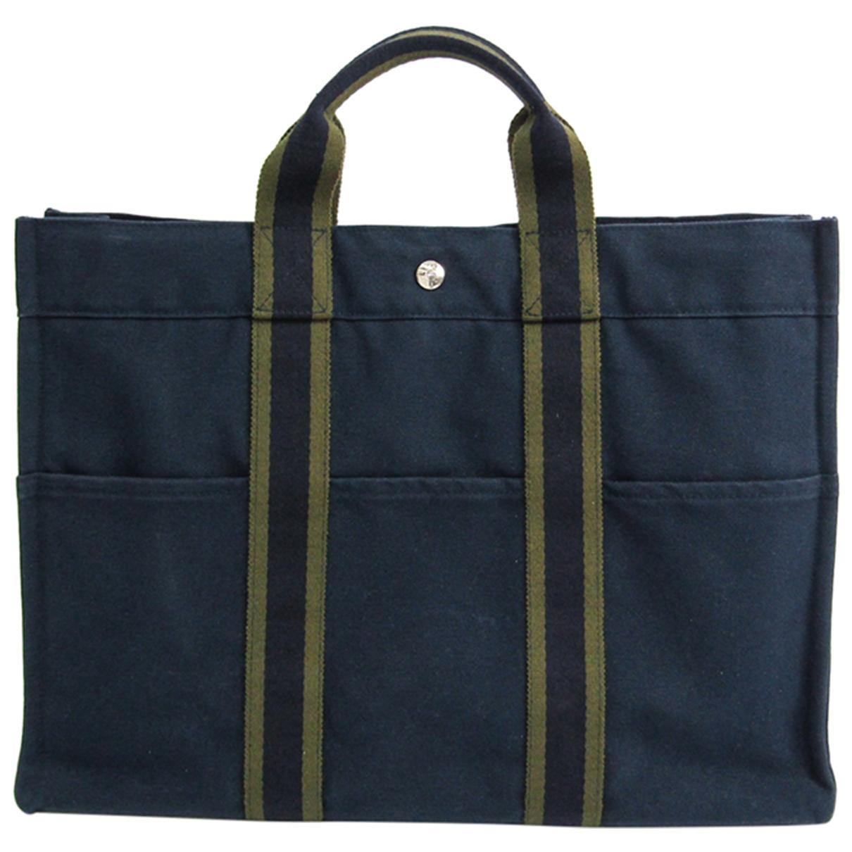 Hermès Toto Blue Cotton handbag for Women \N