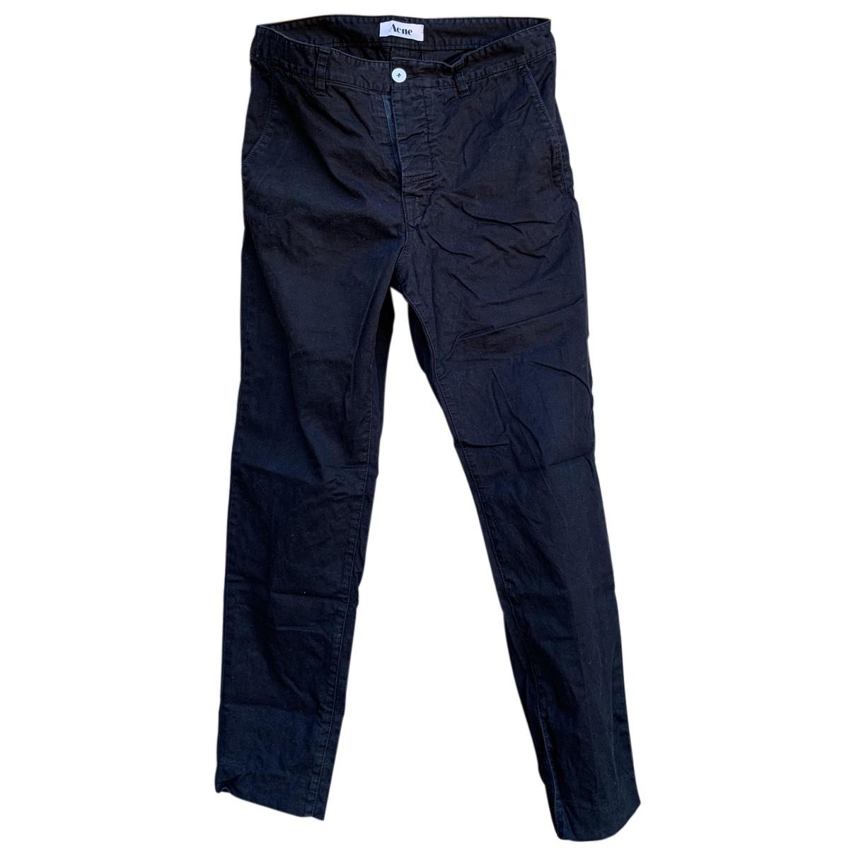 Acne Studios N Black Cotton Trousers for Men 48 IT
