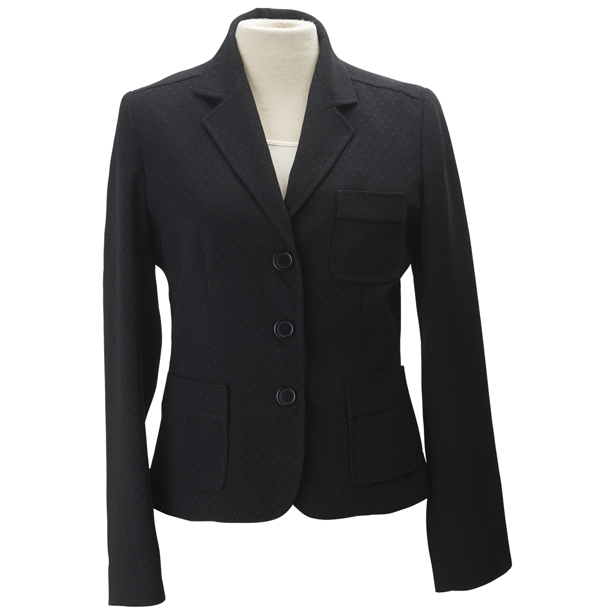 Non Signé / Unsigned \N Black jacket for Women 36 FR