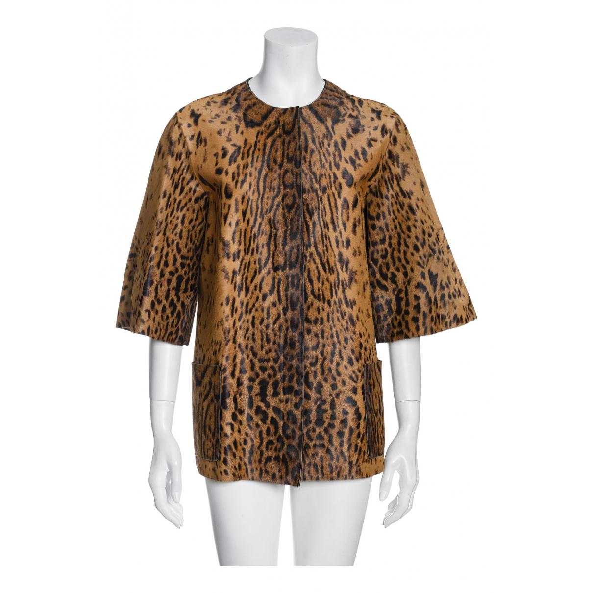 Lanvin - Veste   pour femme en cuir - marron