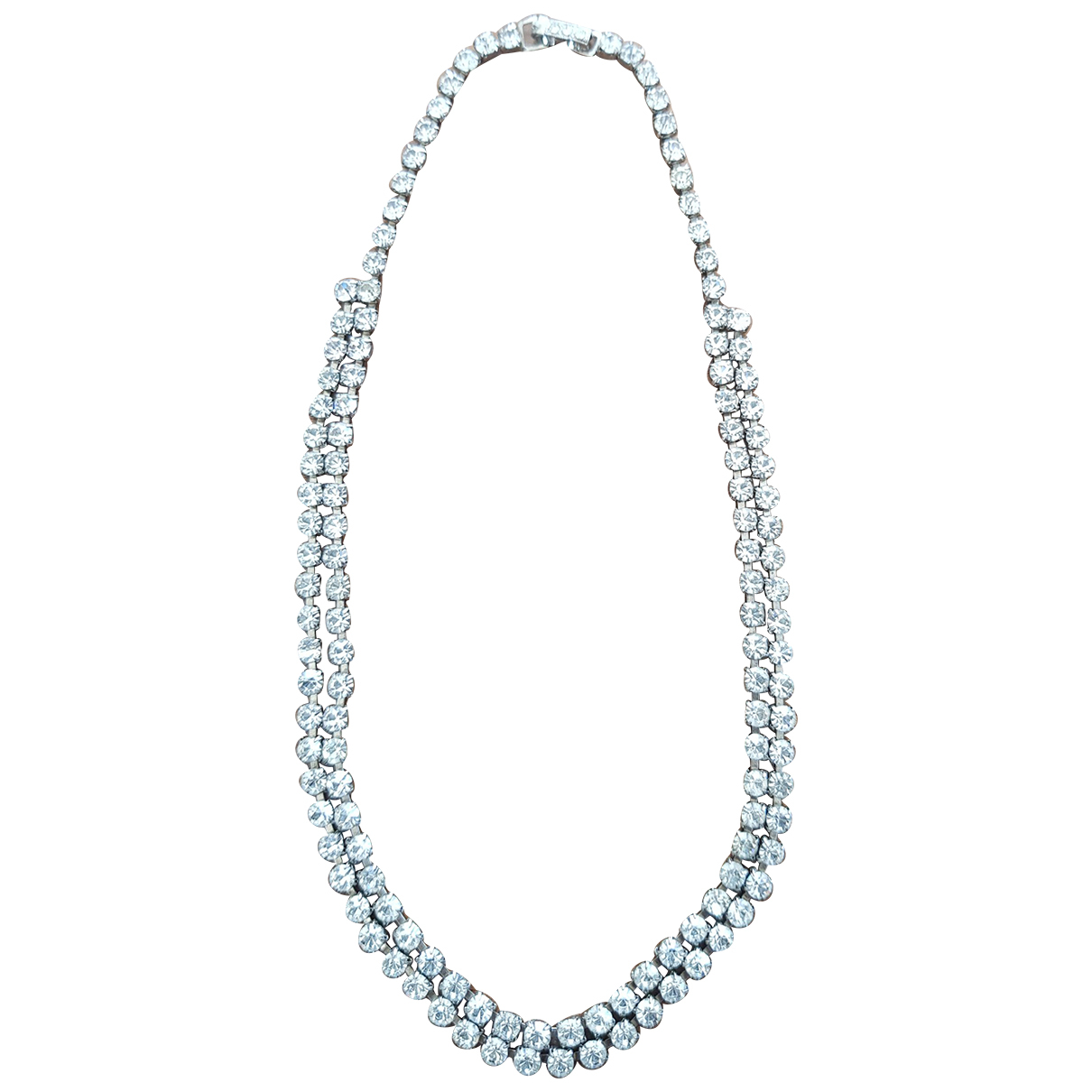 Non Signé / Unsigned Tennis White Metal necklace for Women \N