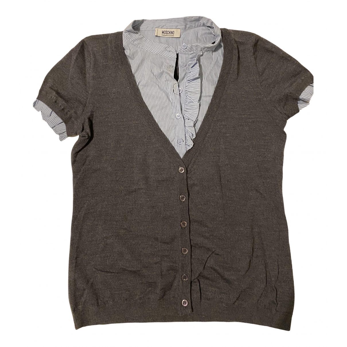 Moschino Cheap And Chic - Top   pour femme en laine - gris
