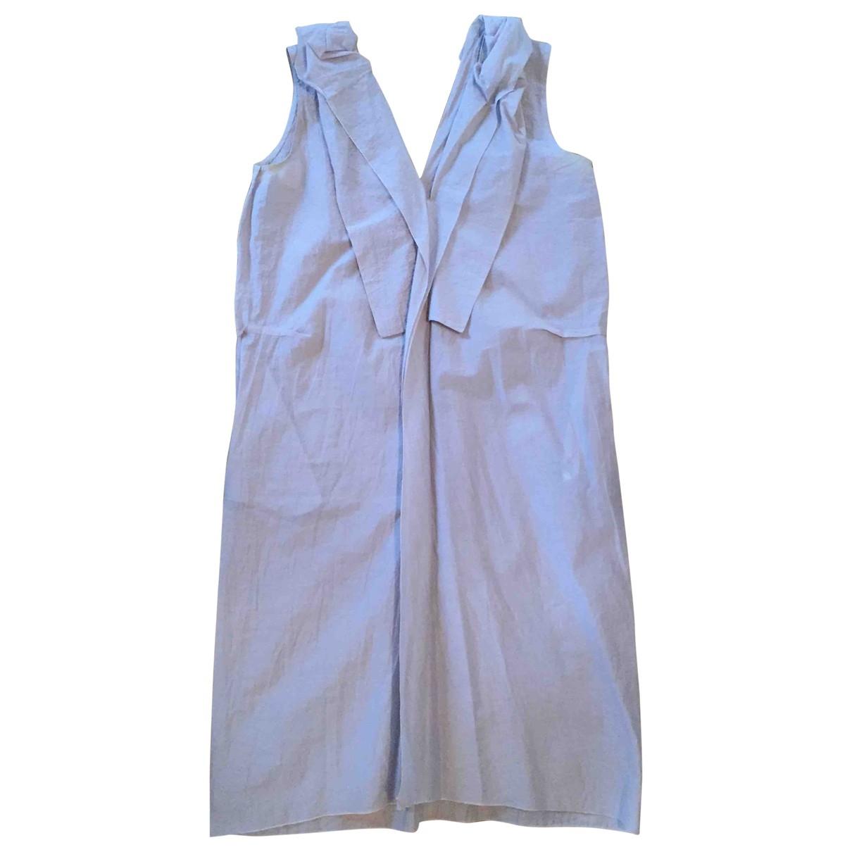 Marni \N Kleid in  Grau Seide